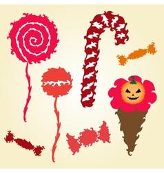decorative candies vector image