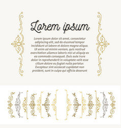 Set of ornamental flourishes braces page decor vector