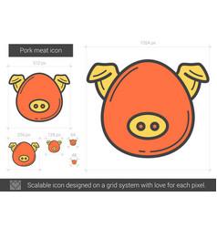 Pork meat line icon vector