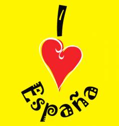 I love Spain logo vector image