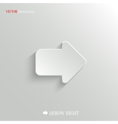 Arrow right icon - web background vector image