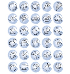 Blue food splotches vector