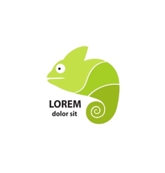 Stylized chameleon on a light background vector