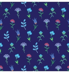 Geometric growing flowers seamless pattern vector