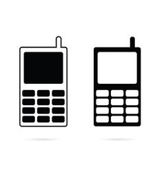 Mobile phone set black vector