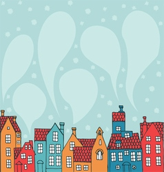 Background with houses vector