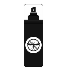 Mosquito spray black simple icon vector