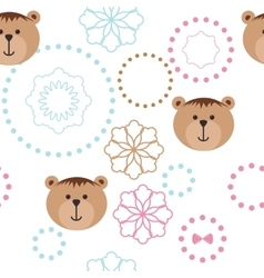 Seamless isolated pattern with bears vector
