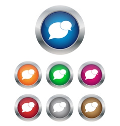 Conversation buttons vector