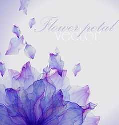 Watercolor card with Purple flower petal vector image