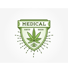 Medical Cannabis Marijuana Sign or Label Template vector image
