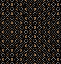 Retro seamless pattern with circles on black vector
