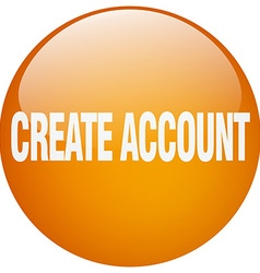 Create account orange round gel isolated push vector