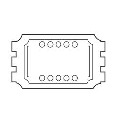 Movie ticket icon vector