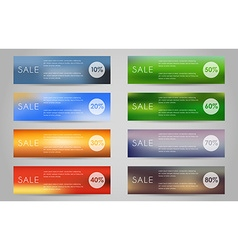A banner set of sale vector image