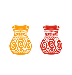 ancient tribal pottery shop icon vector image
