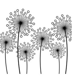 background with decorative flower dandelion vector image vector image