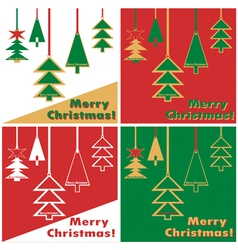 Christmas tree on string vector image vector image