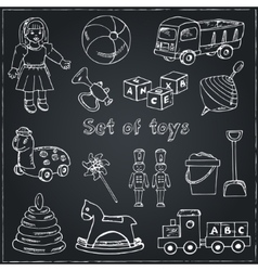 Collection of doodles toys vector