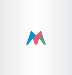 colorful m letter logotype icon symbol design sign vector image