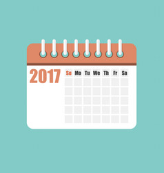 flat calendar year 2017 vector image vector image