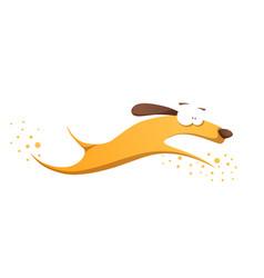 funnu cute crazy yellow dog vector image