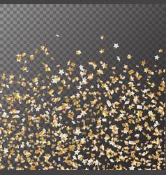 Golden stars confetti seamless pattern vector