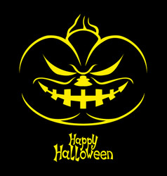 Halloween pumpkin on a black background vector