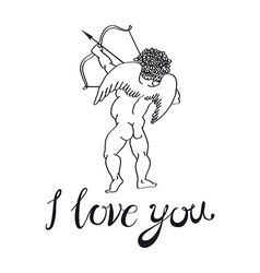 I love you angel vector image