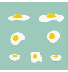 Icons with a fried egg vector