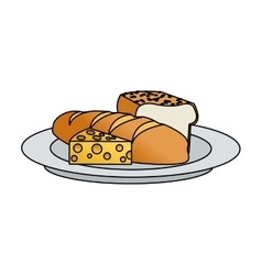 Isolated bread and cheese design vector