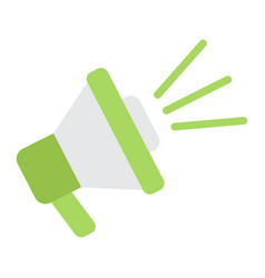 Loudspeaker flat icon megaphone and website vector