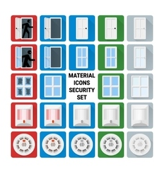 Material icons security set 1 vector