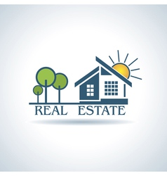 Modern icon for Real estate business design vector image