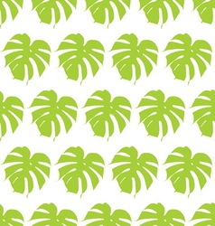 Monstera silhouettes seamless pattern Tropical vector image vector image