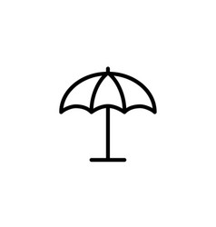 parasol umbrella icon thin line black vector image vector image