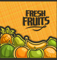 Poster for set fresh fruits vector