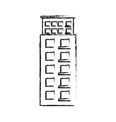 profile building line sticker image vector image vector image