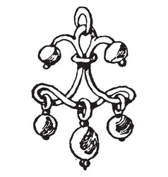 Renaissance earring is inspired from a portrait vector