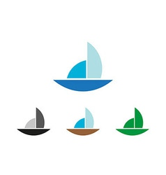 Sailing object symbol vector image