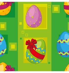 seamless easter eggs vector image
