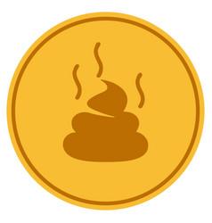 Shit smell gold coin vector
