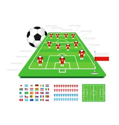 Soccer tactical kit vector