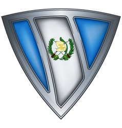 steel shield with flag guatemala vector image vector image