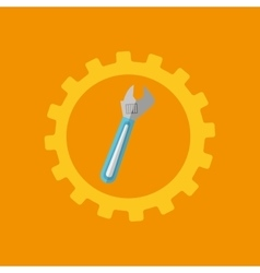 Tool box spanner construction icon design vector