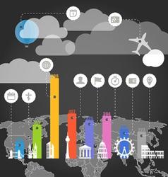 Urban infographic elements vector