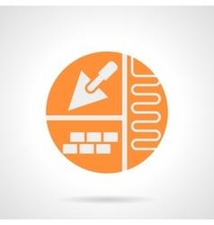 Floor improvement orange round icon vector