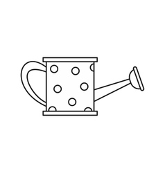 Ithe watering can icon outline style vector