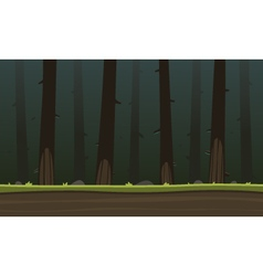 Forest cartoon game background vector
