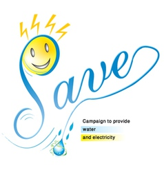 Logo for a campaign to provide water - electricity vector